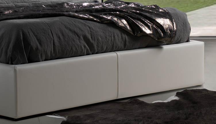 Letto capitonne moderno design imperiale basso2 lettissimi